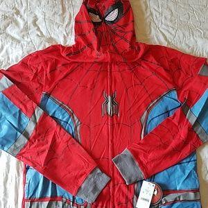 New spiderman full  zip hoodie